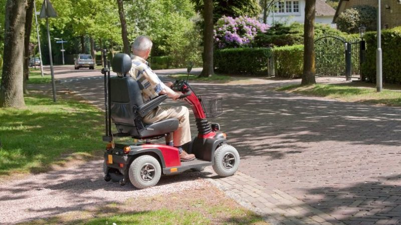 Stranger with a saw attacks 'terrified' pensioner on mobility scooter